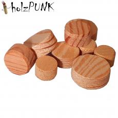 Konusplättchen bzw. Querholzplättchen aus Kiefer / Durchmesser von 10 bis 40 mm wählbar