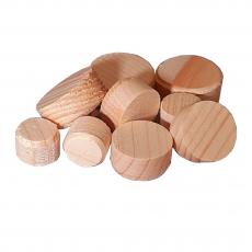 Konusplättchen bzw. Querholzplättchen aus Fichte / Durchmesser von 10 bis 40 mm wählbar