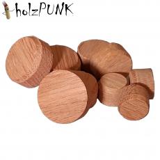 Konusplättchen bzw. Querholzplättchen aus Eiche / Durchmesser von 15 bis 40 mm wählbar