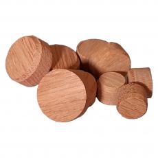 Konusplättchen bzw. Querholzplättchen aus Eiche / Durchmesser von 10 bis 40 mm wählbar