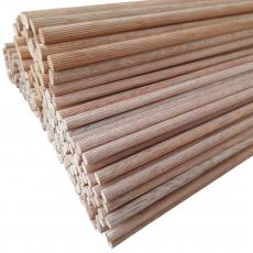6er Riffelstab aus Eiche oder Mahagoni wählbar / Durchmesser: 6 mm, Länge: 1000mm
