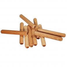 8er Riffeldübel aus Eiche / Größe: 8 x (Länge von 40 bis 60 mm wählbar)