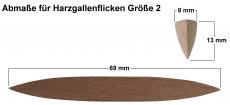 Harzgallenflicken Größe G2 aus Fichte gemischt