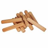 6er Riffeldübel aus Buche / Größe: 6 x (Länge von 30 bis 40 mm wählbar)