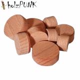 Konusplättchen bzw. Querholzplättchen aus Buche natur / Durchmesser von 15 bis 25 mm wählbar