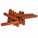 8er Riffeldübel aus Mahagoni / Größe: 8 x (Länge von 50 bis 90 mm wählbar)